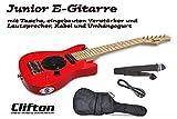 E-Gitarre Junior Clifton mit eingebauten Verstärker und Lautsprecher