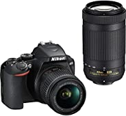 Nikon D3500 DX-Format DSLR Two Lens Kit with AF-P DX Nikkor 18-55mm f/3.5-5.6G VR & AF-P DX Nikkor 70-300m