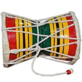 ITOS365 Handmade Small Damroo Indian Musical Instrument Damru Gift, Set of 2