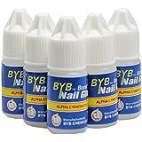 flybuld 5pcs/Set uñas pegamento uso para brillantes pegatinas de uñas falsas consejos alta calidad uñas decoración belleza talla única azul