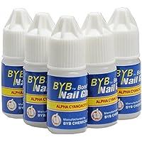 flybuld 5 pcs/Set uñas pegamento uso para brillantes pegatinas de uñas falsas consejos alta