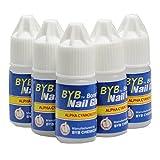 Flybuld 5pz/set colla per unghie uso per strass adesivi per unghie finte punte di alta qualità Decorazione unghie bellezza taglia unica Blue
