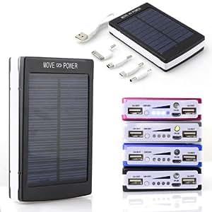 Amazing-trading 30000mAh solaire Dual USB Power Bank Chargeur de batterie pour iPhone 5/5S