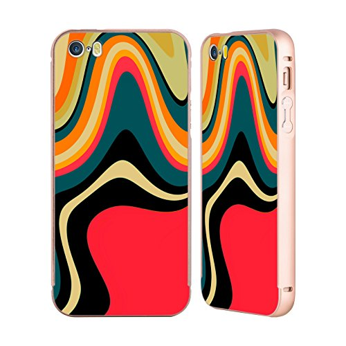 Ufficiale Shelly Bremmer Dopa Astratto E Vivido Oro Cover Contorno con Bumper in Alluminio per Apple iPhone 5 / 5s / SE Risolvere