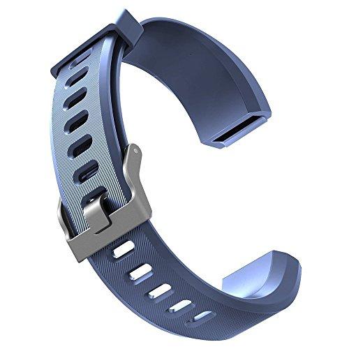 Smart Bracelet,Aokey HR Ersatzbänder Fitness Tracker Verstellbarer Ersatzband Silikon Ersatz Straps Armband Uhrenarmband Ersatz-Zubehör Sport Armband(Blau)