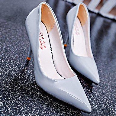 Da donna-Tacchi-Casual-Comoda-A stiletto-PU (Poliuretano)-Nero / Blu / Rosa / Viola / Rosso / Argento / Grigio / Dorato / Beige Silver