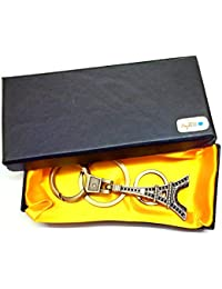 Atargoods Key Chain Eiffel Tower Design Metal Locking Keychain Car, Bike, Scooty Keychain-Limited Stock