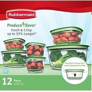 Rubbermaid Produce Saver 12 Piece Set, Garden, Haus, Garten, Rasen, Wartung