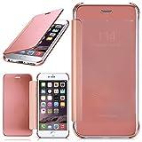 moex iPhone 6S | Hülle Transparent TPU Void Cover Dünne Schutzhülle Rosé-Gold Handyhülle für iPhone 6/6S Case Ultra-Slim Handy-Tasche mit Sicht-Fenster