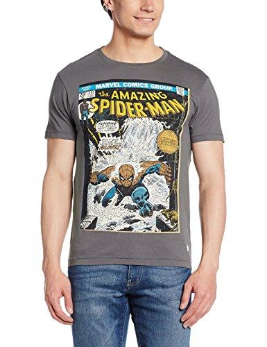 Flying Machine Men's T-Shirt (8907259686899_FMTS6274_X-Large_Grey)