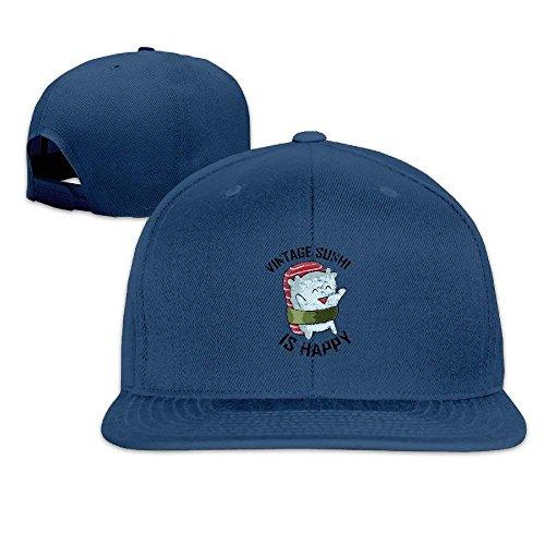 (Vintage Sushi Hear Ghost Vintage Flat Baseball Caps Snapback Hat Unisex)