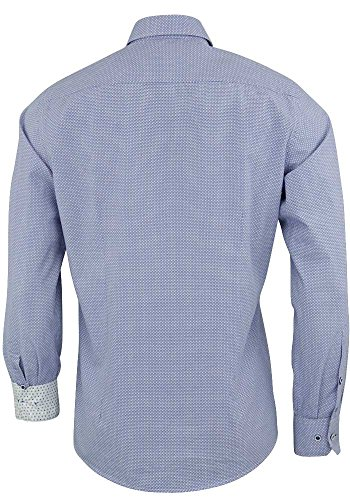 Venti Hemd Druck blau Kentkragen extra lang 72 cm Blau