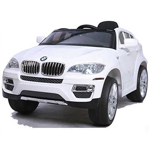 Preisvergleich Produktbild simron BMW X6 SUV Elektro Kinderauto Kinderfahrzeug Ride-On 12V Kinder Elektroauto -weiss-
