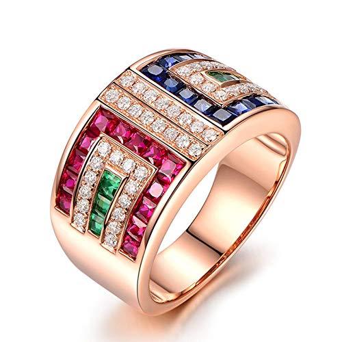 KnSam Damen-Ring 925 Sterling Silber Saphir Zirkonia Fingerring Jahrestag Echtschmuck Antragsring für Frauen Gr. 63 (20.1) inkl. Geschenkbox