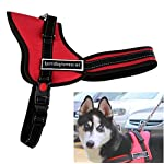Chinatera Comfortable Medium Large Size Dog Pet Adjustable Soft Chest Harness (Black, S: chest 50-60cm) 16