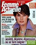 Telecharger Livres FEMME ACTUELLE No 787 du 25 10 1999 VOTRE AVENIR AVEC LE TAROT DE LA JOCONDE LES ANTIRIDES AU RETINOL LES PLUS EFFICACES POURQUOI AIMENT ELLES DES HOMMES PLUS JEUNE ANXIETE DEPRIME DEPRESSION OU SE FAIRE SOIGNER (PDF,EPUB,MOBI) gratuits en Francaise