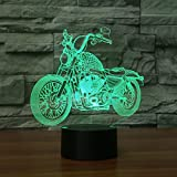 3D Lamp USB Power 7 Colors Amazing Optical Illusion 3D Grow LED Lamp Motor Shapes Kids Bedroom Night Light