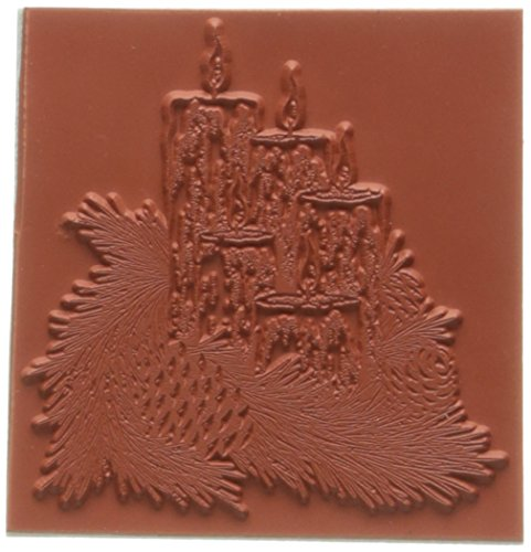 C.C. Designs goma doveart sellos 3.25-Inch X 3.25-Inch Luz de Vela