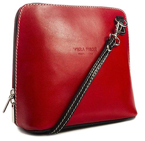 Vera Pelle, Borsa a tracolla donna rosso Red / Black Red / Black