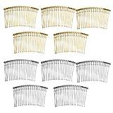 Sharplace 10 Pezzi Pettini per Capelli con 20 Denti Fermacapelli per Donna Quotidiana Capelli Accessori - Misto, 8.5cm