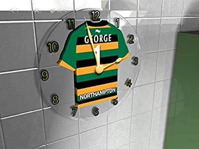 Rugby Club Personalised Jersey Wall Clocks