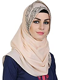 Momin Libas Women's Cotton Scarf (HCT43117, Peach, Medium)