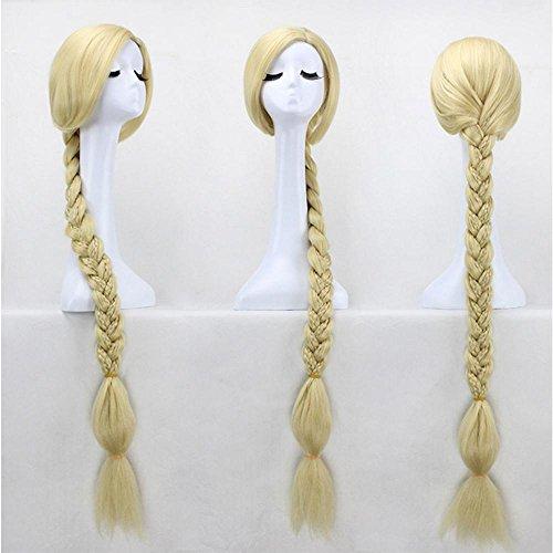 Rapunzel Cosplay Perücken Lange Zöpfe Haar Cosplay Perücken für Damen Halloween oder täglichen Verschleiß Anime Braid Perücken (Rapunzel Cosplay Perücke)