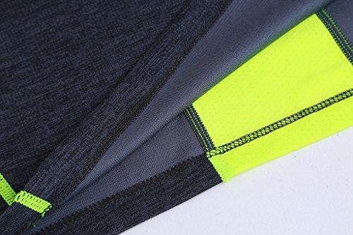 Jiayiqi Männer Kontrast Farbe Tees Schnell Trocknende Outdoor Wandern Reißverschluss T-Shirts Grau
