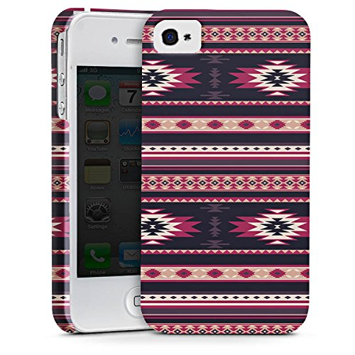 Apple iPhone X Silikon Hülle Case Schutzhülle Ethno Teppich Azteken Muster Premium Case glänzend