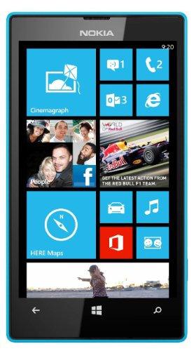 Nokia Lumia 520 Mobile Phone (Cyan)