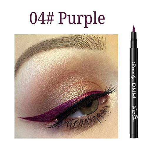 ASHOP Super Eyeliner Hochpräziser Eyeliner, Color Eyeliner, Liquid Eyeliner, weich und flexibel, einfach zu bedienen Mehrfarbig04