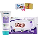 Himalaya Herbals Baby Cream (100g)+Himalaya Herbals Soothing Baby Wipes (24 Sheets) With Happy Baby Luxurious Kids Soap With Toy (100gm)