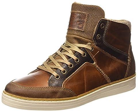 Mustang High Top Sneaker, Herren Hohe Sneakers, Braun (301 kastanie), 46 EU