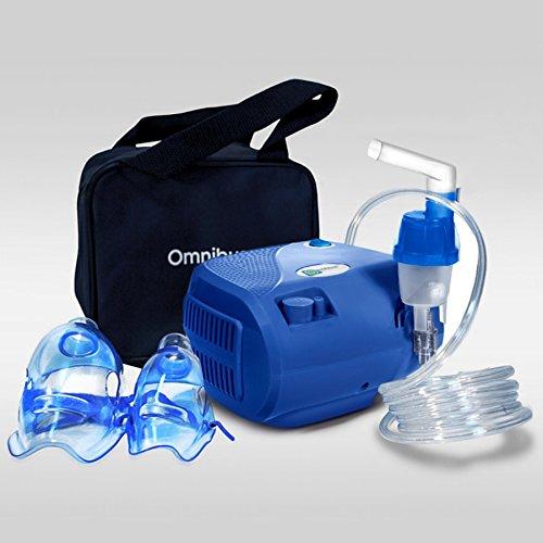 Omnibus BR-CN116B Inhaliergerät Inhalator Aerosol Therapie Vernebler Inhalation Kompressor (Blau)