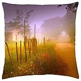 Suxinh Porphyry Basin columbines - Throw Pillow Cover Case 18' x 18'