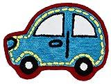 Catherine Lansfield Coche de los niños Alfombra, poliéster, Azul, 75x 0,5x 65cm