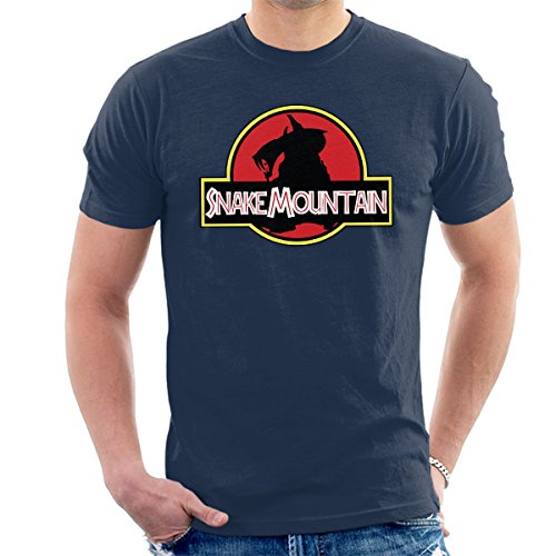 Jurassic Park Snake Mountain He Man Masters Of The Universe Men's T-Shirt Navy Blue