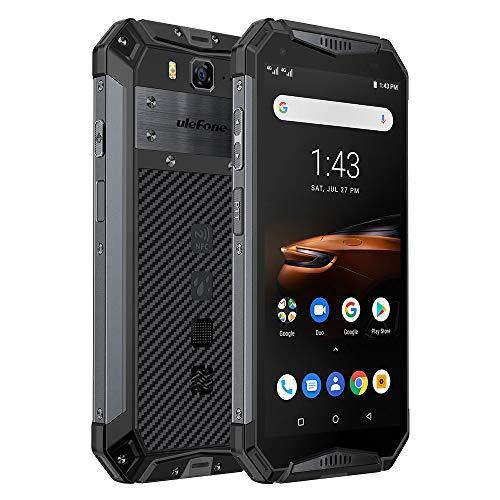 Rugged Smartphone, Ulefone Armor 3W Cellulare ip68 Android 9.0, 10300mAh, Helio P70 Octa-core 6GB 64GB, Sony Fotocamera 21MP+8MP, 5.7 Pollici FHD+, Telefono Rugged, Dual 4G, Face ID/NFC/OTG/GPS-Nero