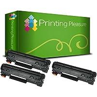Printing Pleasure 2 Compatibles CB436A / 36A Cartuchos de tóner para HP Laserjet P1505 P1505N P1506 M1120MFP M1120N M1520 M1522MFP M1522N M1522NF - Negro, Alta Capacidad