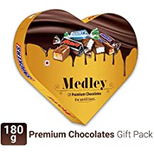 Snickers Medley Heart Shaped Assorted  Chocolate Gift Pack (Snickers, Mars, Bounty) - 180g Box