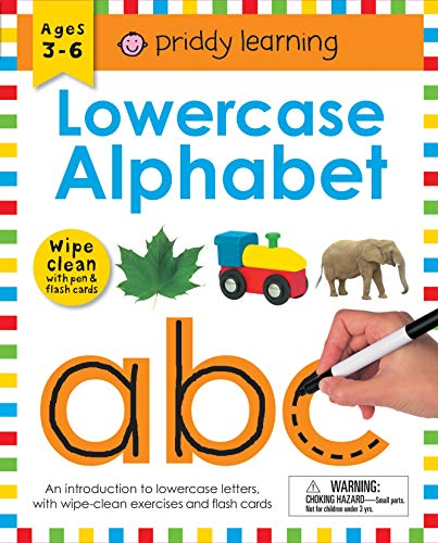 Wipe Clean Workbook: Lowercase Alphabet (Enclosed Spiral Binding): Ages 3-6; With Pen & Flash Cards (Wipe Clean Learning Books) por Roger Priddy