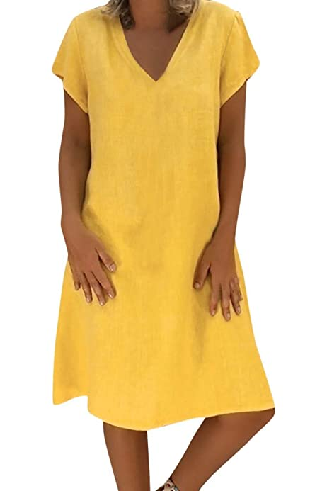Vectry Vestidos De Mujer Tallas Grandes Vestidos Playa Niña Vestidos Largos Casual Estampados Vestidos Midi Vintage Vestido Corto Verano Vestidos Mujer Vestido ...