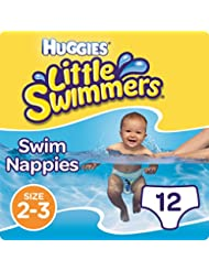 Huggies Little Swimmers Disposable Swim Nappies, Size 2-3 - 12 Nappies Total