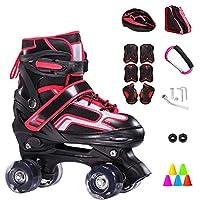 ZCRFY Inline Roller Skate Adjustable Double Row 4 Wheel Children