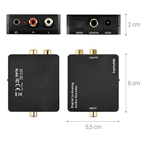 Zoom IMG-2 kwmobile convertitore audio da digitale