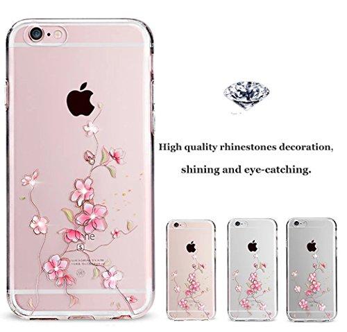 iPhone 6s Plus Hülle, iPhone 6 Plus Hülle, Vandot iPhone 6s Plus / 6 Plus Schutzhülle Diamant Bling Glitzer Transparent Muster Handyhülle Thin Pattern TPU Silikon Weich Case Cover Glänzend Malerei Dur Color 33