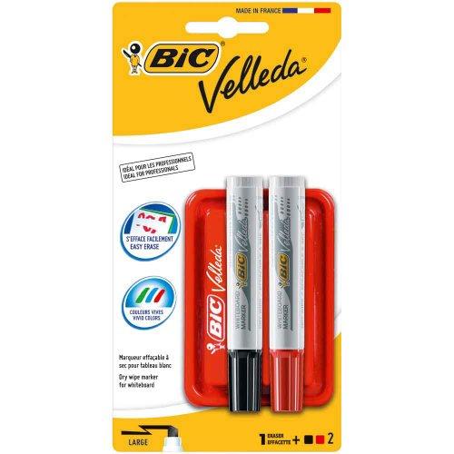 bic-882405-borrador-magntico-con-2-marcadores-para-pizarras-blancas-multicolor