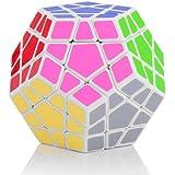 Shengshou Megaminx Speed Cube Puzzle Blanc