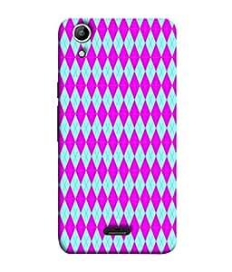 PrintVisa Designer Back Case Cover for Canvas Selfie Lens Q345 (diamond shaped pink blue beautiful )