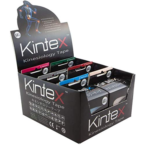 Kintex 6 Rollen Kinesiologie Tape mit Aufsteller Classic 5cm x 5m Kinesiologie Tape 5cmx5m